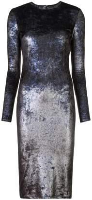 Nha Khanh metallic effect fitted dress