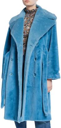 Stine Goya Happy Faux-Fur Long Coat