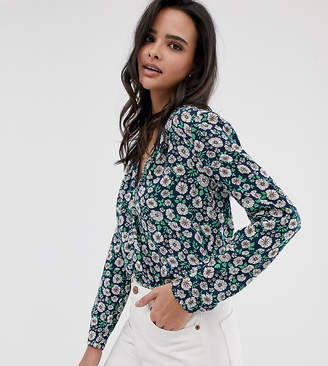 Esprit daisy print blouse in navy