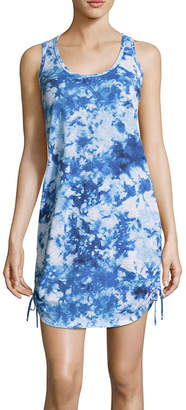 City Streets Tie Dye Knit Swimsuit Cover-Up Dress-Juniors