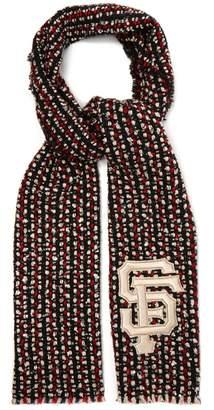 Gucci SF sequin-embellished tweed scarf