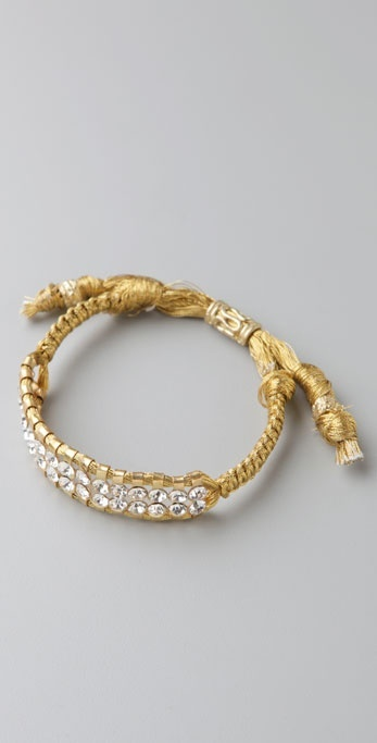 Shashi Metallic Double Row Crystal Bracelet