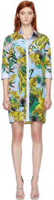 Versace Multicolor Palms Shirt Dress