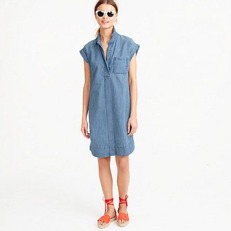 Short-sleeve chambray shirtdress $98 thestylecure.com