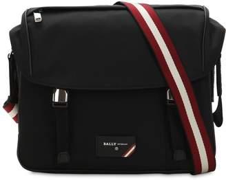 Bally Logo Stripe Nylon Messenger Bag
