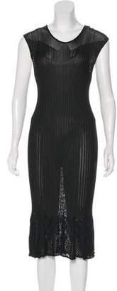 Fuzzi Crochet-Trimmed Midi Dress