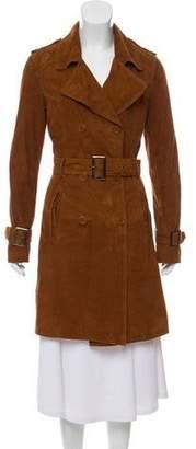 BLK DNM Suede Trench Coat