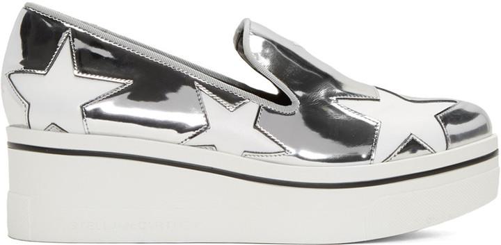 Stella McCartney Silver Star Platform Binx Sneakers