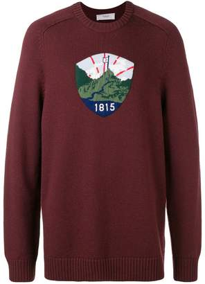 Pringle Badge Icon Jumper In Sloe