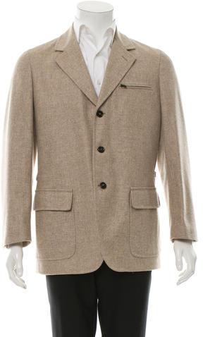 BrioniBrioni Wool Notch-Lapel Jacket w/ Tags