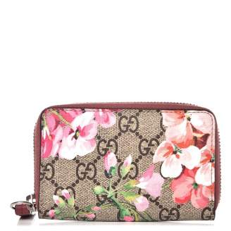 f0b256128ab Pre-Owned at StockX · Gucci Card Case Monogram GG Supreme Blooms Antique  Rose