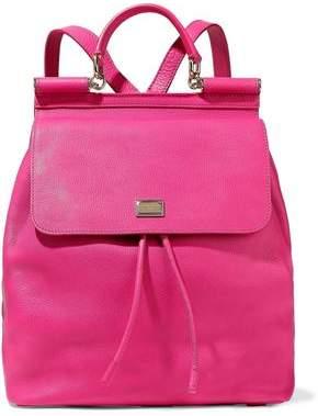 Dolce & Gabbana Sicily Textured-Leather Backpack