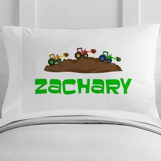 4 Wooden Shoes Personalized Little Builder Toddler Pillow Case