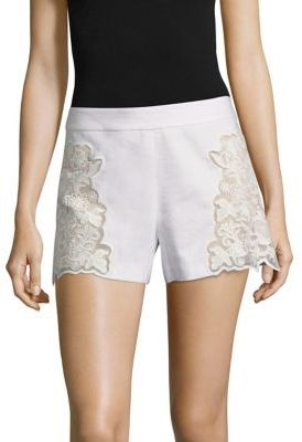 Alice + Olivia Marisa Embroidered Shorts $225 thestylecure.com