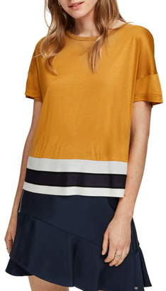 Scotch & Soda Colorblock Boxy Top