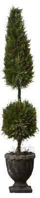 Fleur De Lis Living Topiary Large Tree Urn