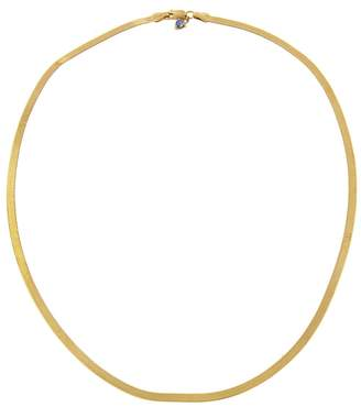 WWAKE 18 Inch Small Rhodes Herringbone Necklace - Yellow Gold