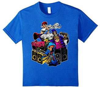 Rap Graffiti DJ & Break Dancing Hip Hop T Shirt