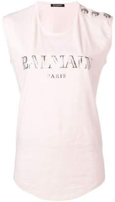 Balmain logo tank top
