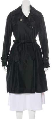 Thomas Wylde Silk Knee-Length Coat