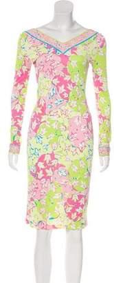 Emilio Pucci Long Sleeve Printed Dress