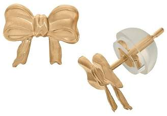 Tiara Kid's Bow Tie Stud Earrings in 14K Yellow Gold