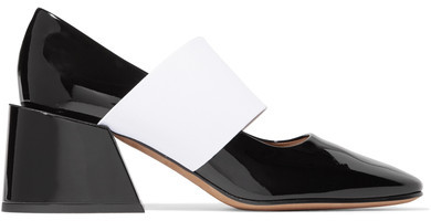 Givenchy - Two-tone Patent-leather Pumps - Black