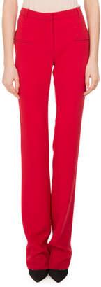 Altuzarra Jane Straight-Leg Pants, Ruby