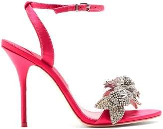 Sophia Webster Lilico crystal-embellished satin sandals
