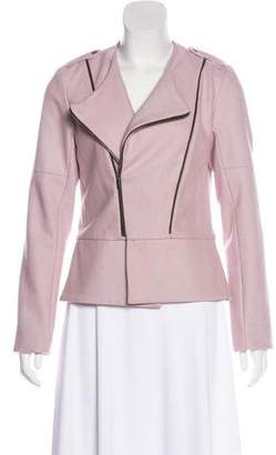 Waverly Grey Wool Moto Jacket