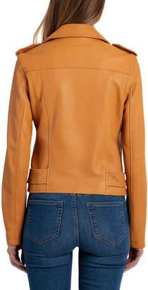 Bagatelle Washed Leather Biker Jacket