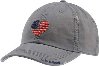 Life is Good Sun-Washed Heart Flag Chill Cap