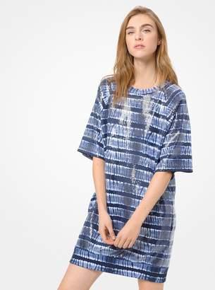 MICHAEL Michael Kors Sequined Tie-Dye T-Shirt Dress