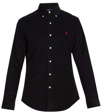 Polo Ralph Lauren Logo Embroidered Cotton Corduroy Shirt - Mens - Black