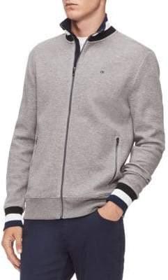 Calvin Klein Striped Heathered Sweater