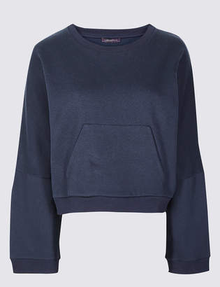 Limited Edition Cotton Rich Wide Sleeve Sweatshirt
