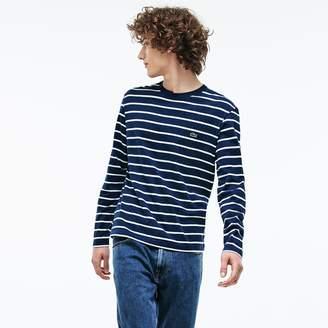 Lacoste Men's Crew Neck Striped Jersey T-shirt