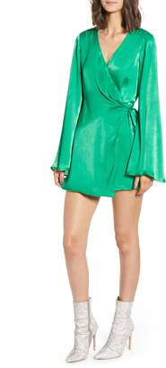 Show Me Your Mumu Grass Sheen Wrap Romper
