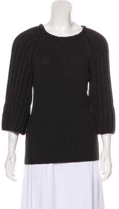 Fendi Rib Knit Crew Neck Sweater