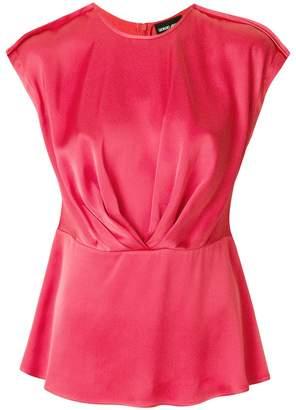 Giorgio Armani sleeveless ruched blouse