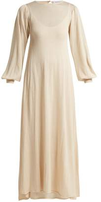 Roche Ryan Two Layer Cashmere Blend Knit Dress - Womens - Cream