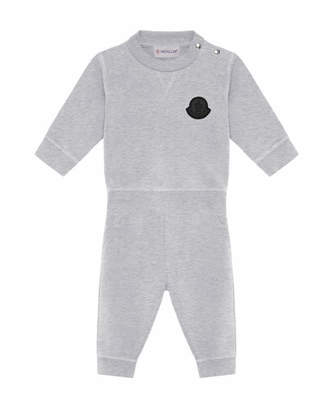 Moncler Heathered Sweatshirt w/ Matching Sweatpants, Size 6M-3
