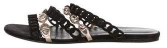 Hermes Chain-Link Slide Sandals