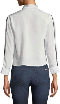 Avantlook Bow & Ridge Tie-Neck Blouse