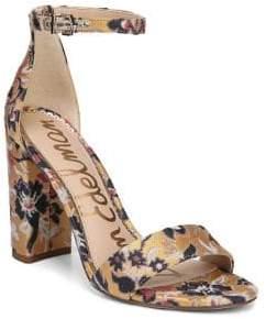 Sam Edelman Yaro Floral Block-Heel Sandals