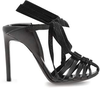 Majorelle & Mansour leather sandals