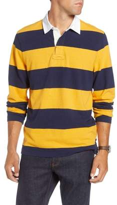 1901 Slub Stripe Long Sleeve Rugby Polo
