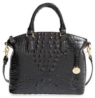 Brahmin 'Medium Duxbury' Croc Embossed Leather Satchel - Black $275 thestylecure.com