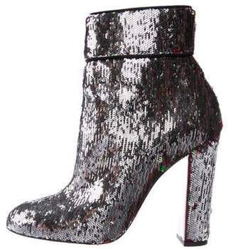 Christian Louboutin Moulamax 100 Sequin Boots