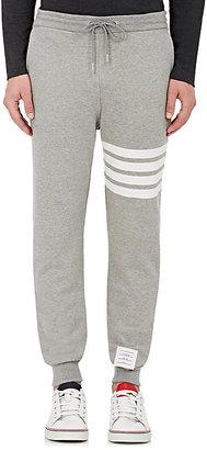 Thom Browne Men's Block-Striped Cotton Sweatpants $570 thestylecure.com